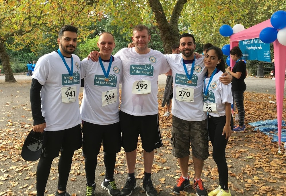 Team Bravr ran to help raise money for Friends of the Elderly