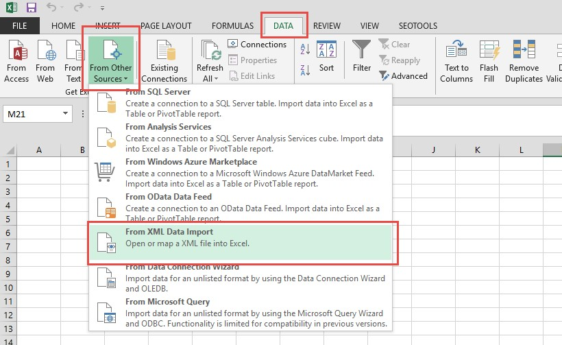 Importing XML into Microsoft Excel